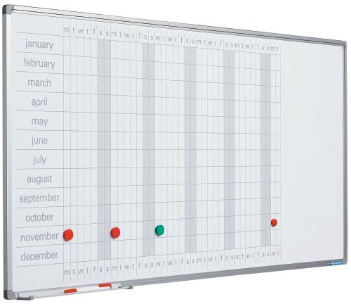Planner Anual  60 X 120 Cm  Profil Aluminiu Sl  Smit (benzi Magnetice Incluse)