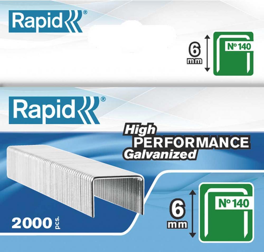 Capse Rapid 140/ 6  2000 Buc/cutie - Pentru Pistol De Capsat Rapid