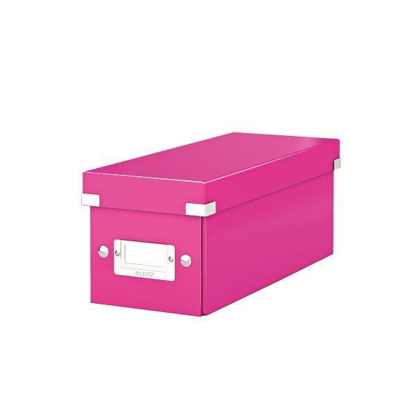 Cutie Pentru 30/60 Cd-uri Cu Carcasa Jewel/slim  Leitz Click and Store  Carton Laminat - Roz