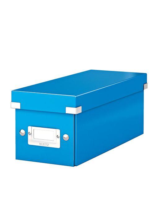 Cutie Pentru 30/60 Cd-uri Cu Carcasa Jewel/slim  Leitz Click and Store  Carton Laminat - Albastru