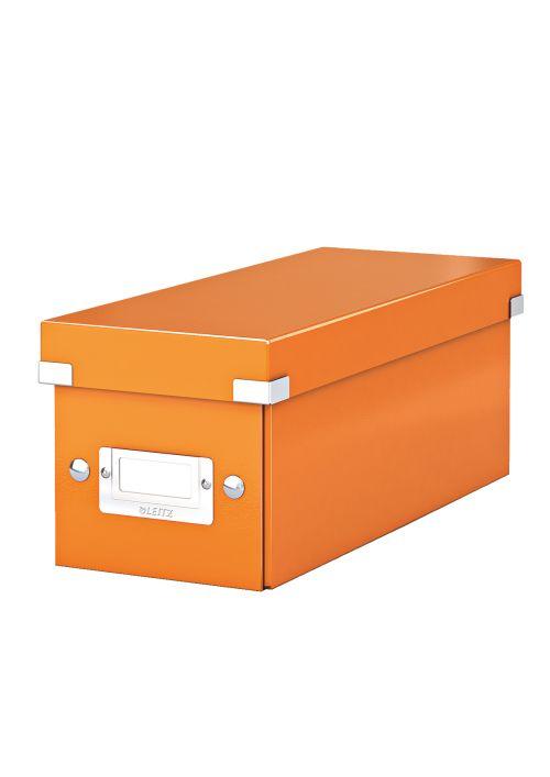 Cutie Pentru 30/60 Cd-uri Cu Carcasa Jewel/slim  Leitz Click and Store  Carton Laminat - Portocaliu