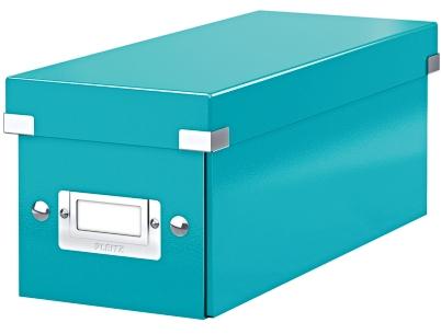 Cutie Pentru 30/60 Cd-uri Cu Carcasa Jewel/slim  Leitz Click and Store  Carton Laminat - Turcoaz