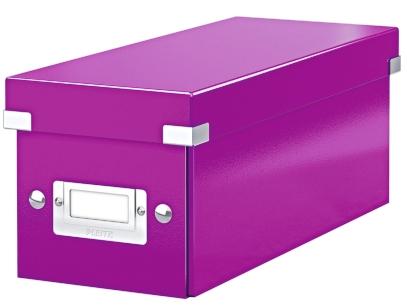 Cutie Pentru 30/60 Cd-uri Cu Carcasa Jewel/slim  Leitz Click and Store  Carton Laminat - Mov