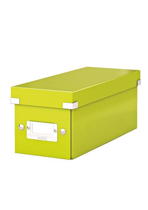 Cutie Pentru 30/60 Cd-uri Cu Carcasa Jewel/slim  Leitz Click and Store  Carton Laminat - Verde