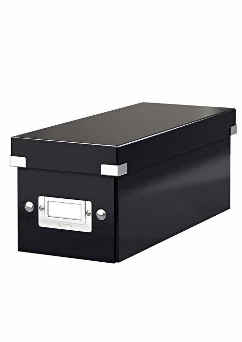 Cutie Pentru 30/60 Cd-uri Cu Carcasa Jewel/slim  Leitz Click and Store  Carton Laminat - Negru