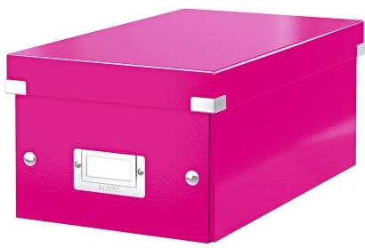 Cutie Pentru 20/40 Dvd-uri Cu Carcasa Jewel/slim  Leitz Click and Store  Carton Laminat - Roz
