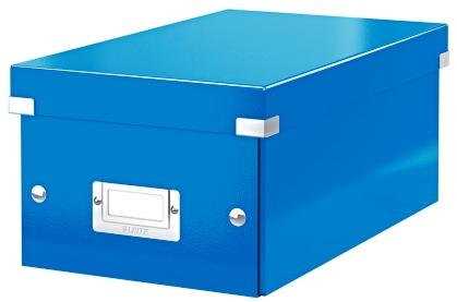 Cutie Pentru 20/40 Dvd-uri Cu Carcasa Jewel/slim  Leitz Click and Store  Carton Laminat - Albastru