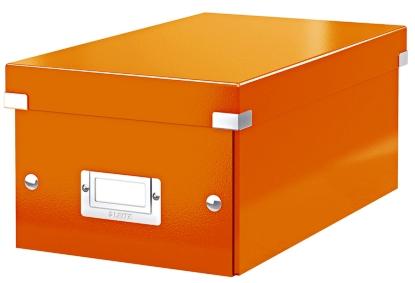 Cutie Pentru 20/40 Dvd-uri Cu Carcasa Jewel/slim  Leitz Click and Store  Carton Laminat - Portocaliu