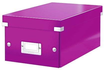 Cutie Pentru 20/40 Dvd-uri Cu Carcasa Jewel/slim  Leitz Click and Store  Carton Laminat - Mov