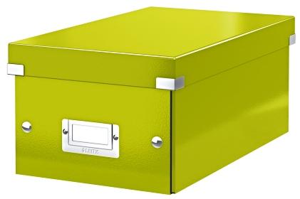 Cutie Pentru 20/40 Dvd-uri Cu Carcasa Jewel/slim  Leitz Click and Store  Carton Laminat - Verde
