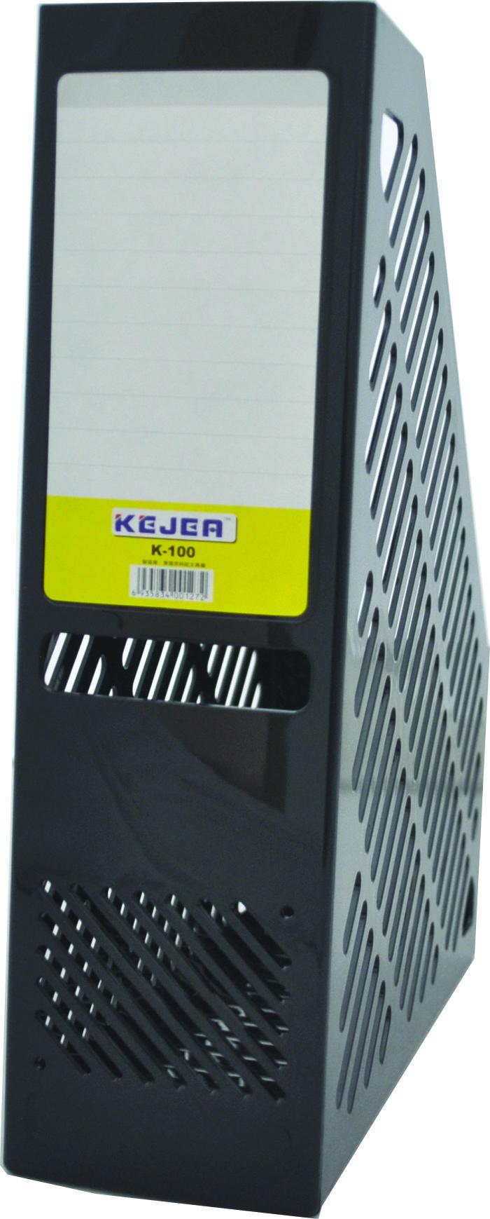Suport Vertical Plastic Pentru Cataloage  75mm  Kejea - Negru