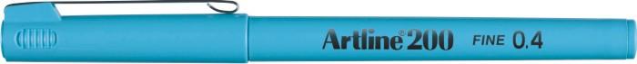 Liner Artline 200  Varf Fetru 0.4mm - Albastru Pastel