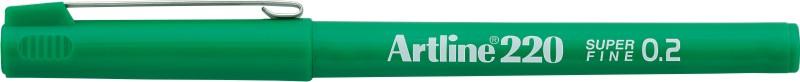 Liner Artline 220  Varf Fetru 0.2mm - Verde