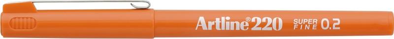 Liner Artline 220  Varf Fetru 0.2mm - Orange
