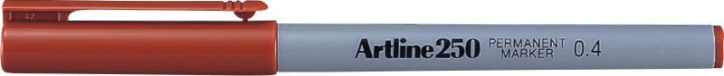 Permanent Marker Artline 250  Corp Plastic  Varf Rotund 0.4mm - Maro