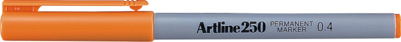 Permanent Marker Artline 250  Corp Plastic  Varf Rotund 0.4mm - Portocaliu