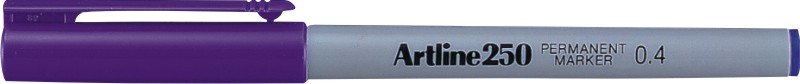 Permanent Marker Artline 250  Corp Plastic  Varf Rotund 0.4mm - Violet