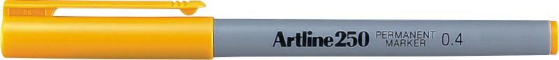 Permanent Marker Artline 250  Corp Plastic  Varf Rotund 0.4mm - Galben