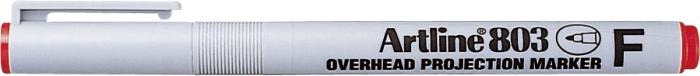 Ohp Non-permanent Marker Artline 803  Varf Fin - 0.5mm - Rosu