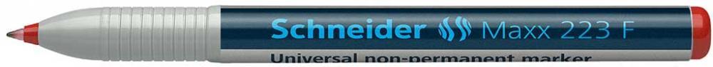 Universal Non-permanent Marker Schneider Maxx 223 F  Varf 0.7mm - Rosu