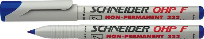 Universal Non-permanent Marker Schneider Maxx 221 S  Varf 0.4mm - Albastru