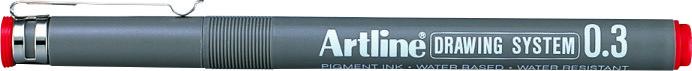 Marker Pentru Desen Tehnic Artline  Varf Fetru 0.3mm - Rosu