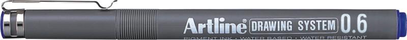 Marker Pentru Desen Tehnic Artline  Varf Fetru 0.6mm - Albastru
