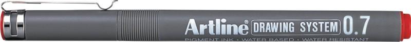 Marker Pentru Desen Tehnic Artline  Varf Fetru 0.7mm - Rosu