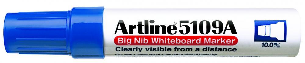 Marker Pentru Tabla De Scris Artline 5109a  Corp Metalic  Varf Rotund 10.0mm - Albastru