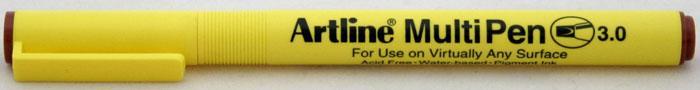Marker Universal Artline Multi Pen  Varf Tesit 3.0mm - Maro