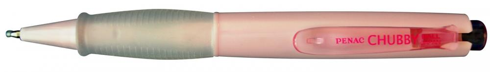 Pix Penac Mini Chubby  Rubber Grip  1.0mm  Corp Roz Pastel - Scriere Albastra