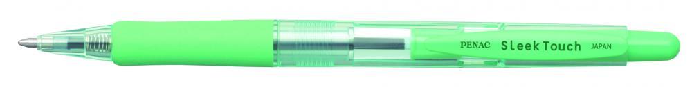 Pix Penac Sleek Touch  Rubber Grip  1.0mm  Accesorii Verde Pastel - Scriere Albastra