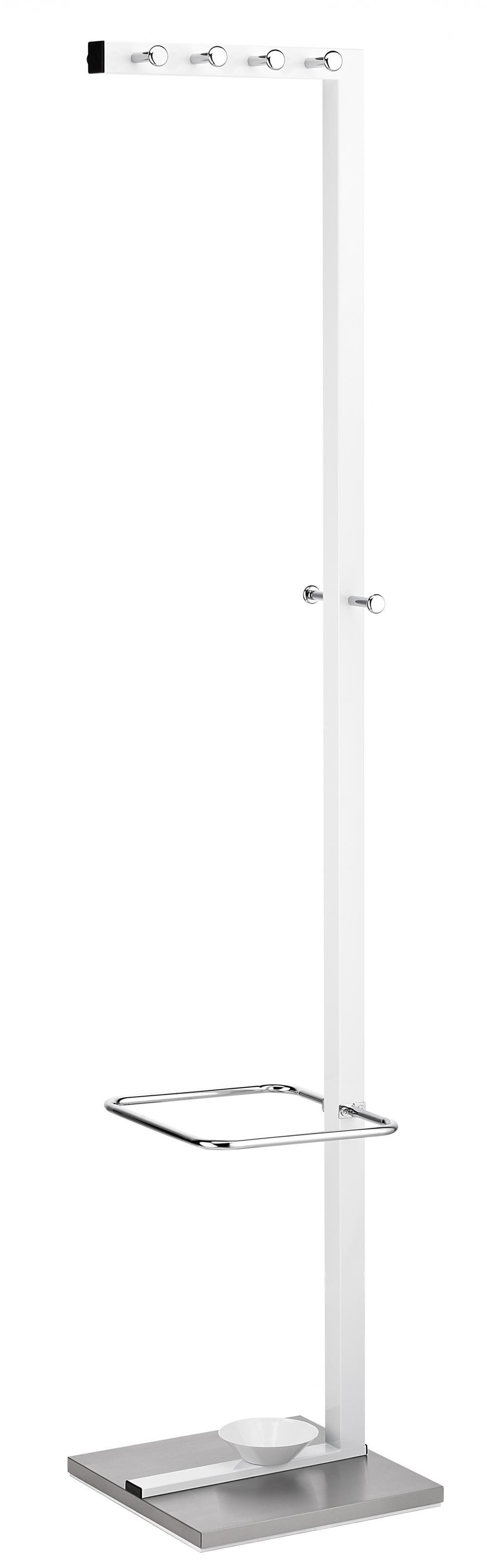 Cuier Metalic Alco Design  Cu 10 Agatatori Cromate  Suport Umbrele - Alb/stainless Steel