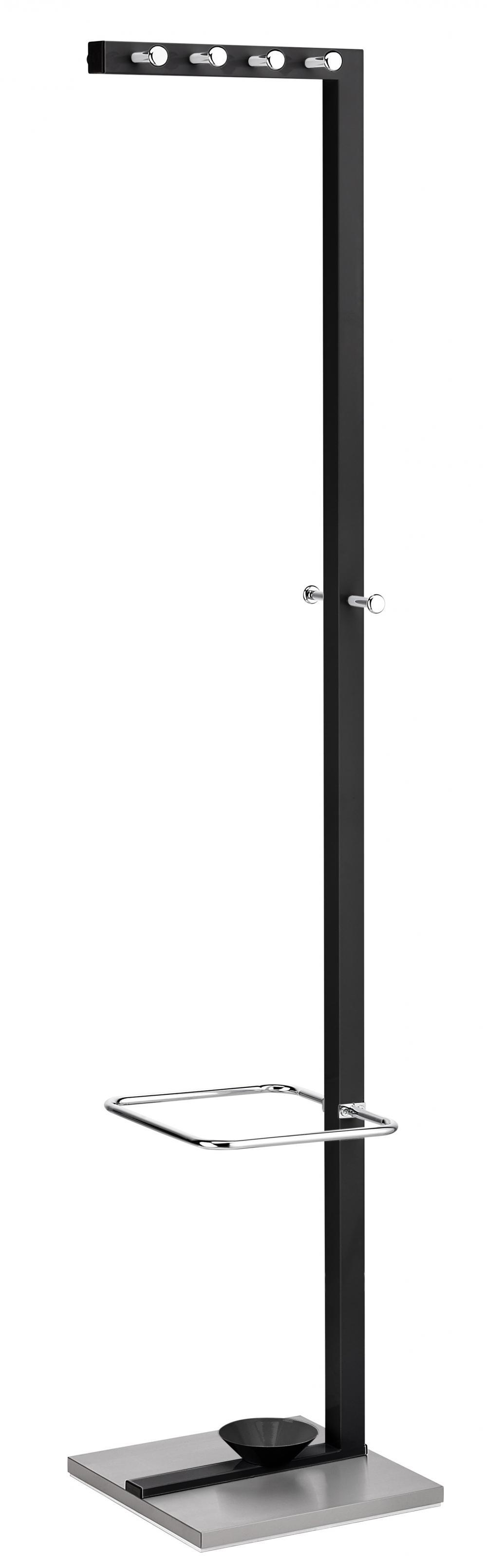 Cuier Metalic Alco Design  Cu 10 Agatatori Cromate  Suport Umbrele - Negru/stainless Steel