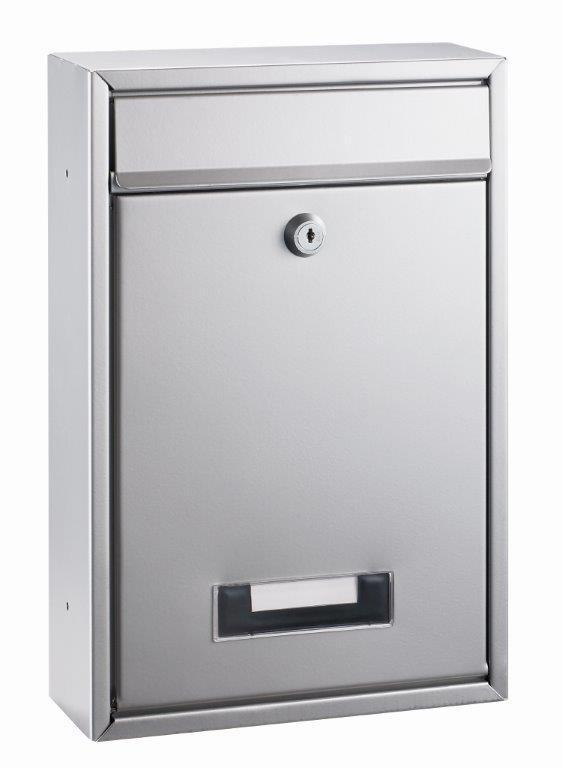 Cutie Postala Metalica  Dimensiuni 32 X 21.5 X 8.5cm  Alco - Argintie