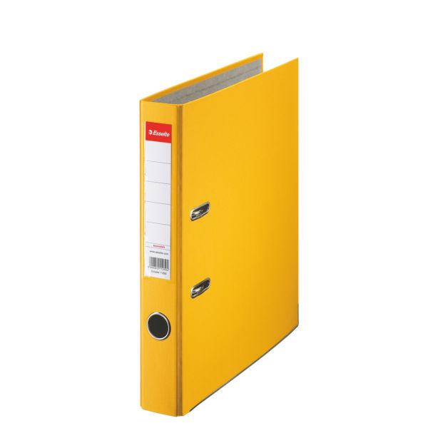 Biblioraft A4  Plastifiat Pp  Margine Metalica  50 Mm  Esselte Economy - Galben