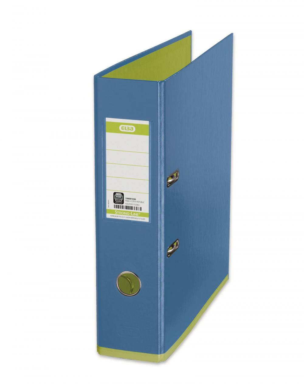 Biblioraft A4  Plastifiat Pp/pp  80 Mm  Elba Mycolour - Bleu/verde Deschis