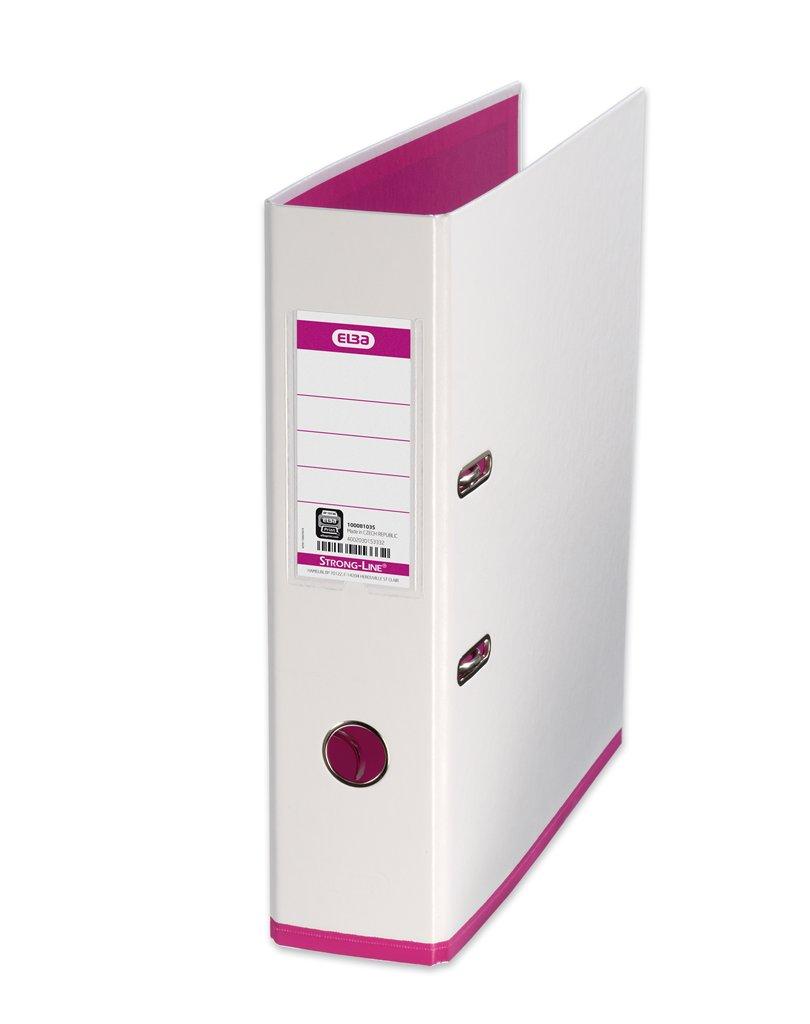 Biblioraft A4  Plastifiat Pp/pp  80 Mm  Elba Mycolour - Alb/alb/roz