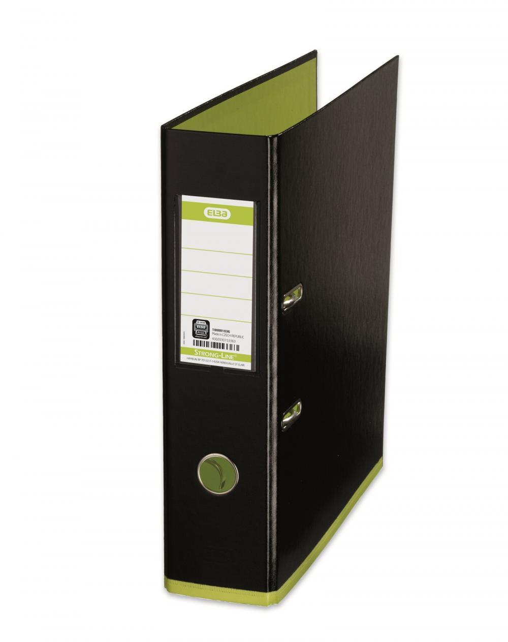 Biblioraft A4  Plastifiat Pp/pp  80 Mm  Elba Mycolour - Negru/verde Deschis