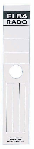 Etichete Albe Autoadezive Pentru Biblioraft Suspendabil 59 X 290 Mm  10/set  Elba