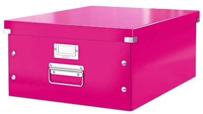 Cutie Arhivare 369 X 200 X 484 Mm  Leitz Click and Store  Carton Laminat - Roz