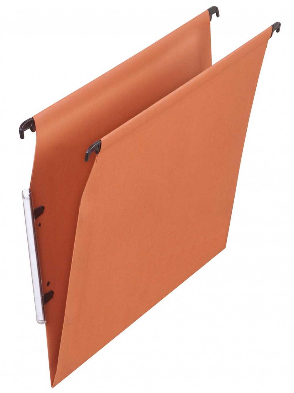 Dosar Suspendabil Cu Eticheta Laterala  Carton 220g/mp  Elba - Kraft Orange