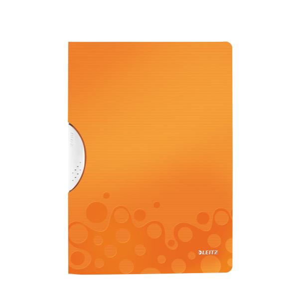 Dosar Cu Clip Leitz Wow Colorclip  Pp - Portocaliu Metalizat