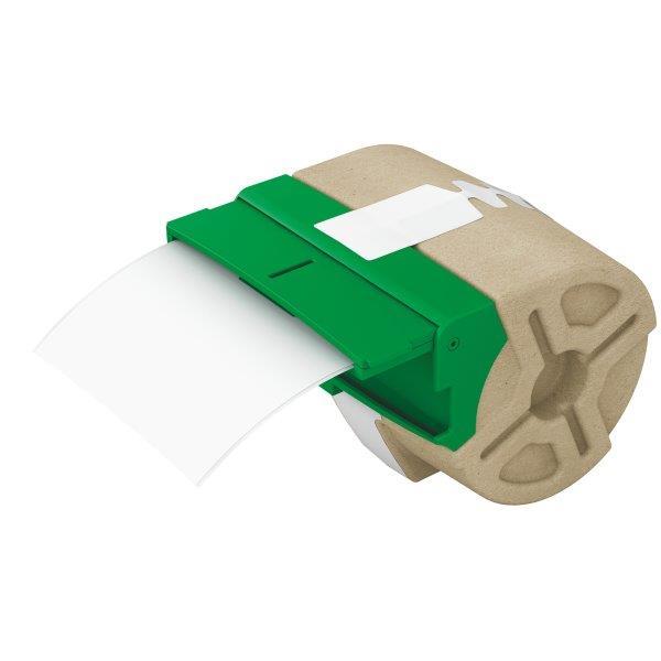 Cartus Inteligent Cu Etichete De Plastic Leitz Icon  88mmx10m  Plastic Alb  Adeziv Permanent
