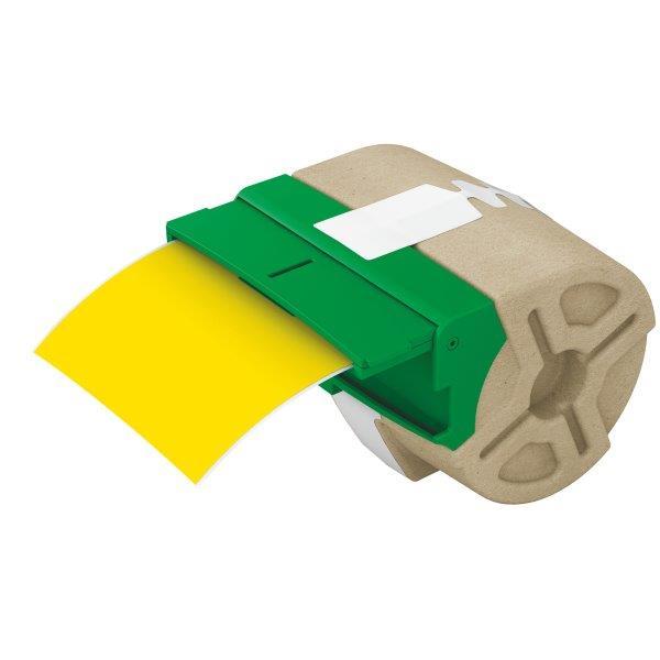 Cartus Inteligent Cu Etichete De Plastic Leitz Icon  88mmx10m  Plastic Galben  Adeziv Permanent