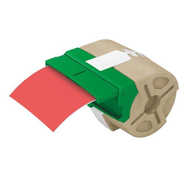 Cartus Inteligent Cu Etichete De Plastic Leitz Icon  88mmx10m   Plastic Rosu  Adeziv Permanent