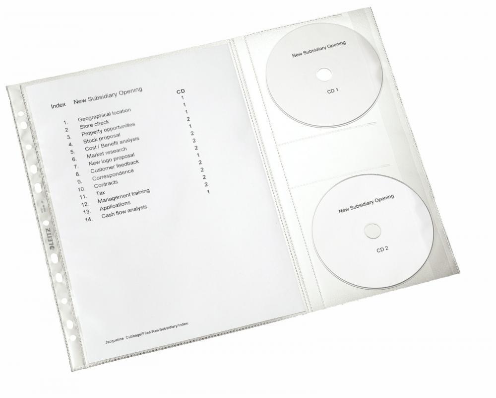 Folie Protectie Documente  Tip Proiect  5 Buc/set  Leitz
