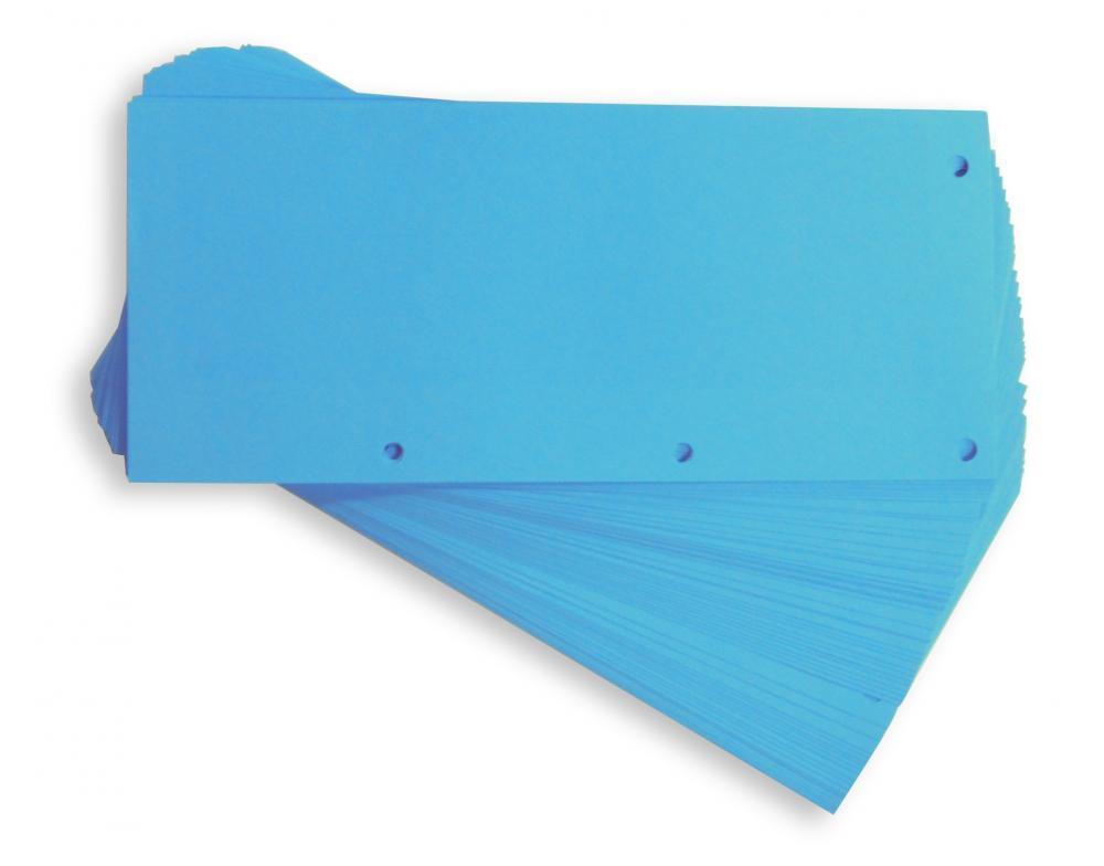 Separatoare Carton Pentru Biblioraft  190g/mp  105 X 240 Mm  60/set  Elba Duo - Albastru