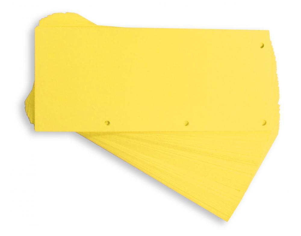 Separatoare Carton Pentru Biblioraft  190g/mp  105 X 240 Mm  60/set  Elba Duo - Galben