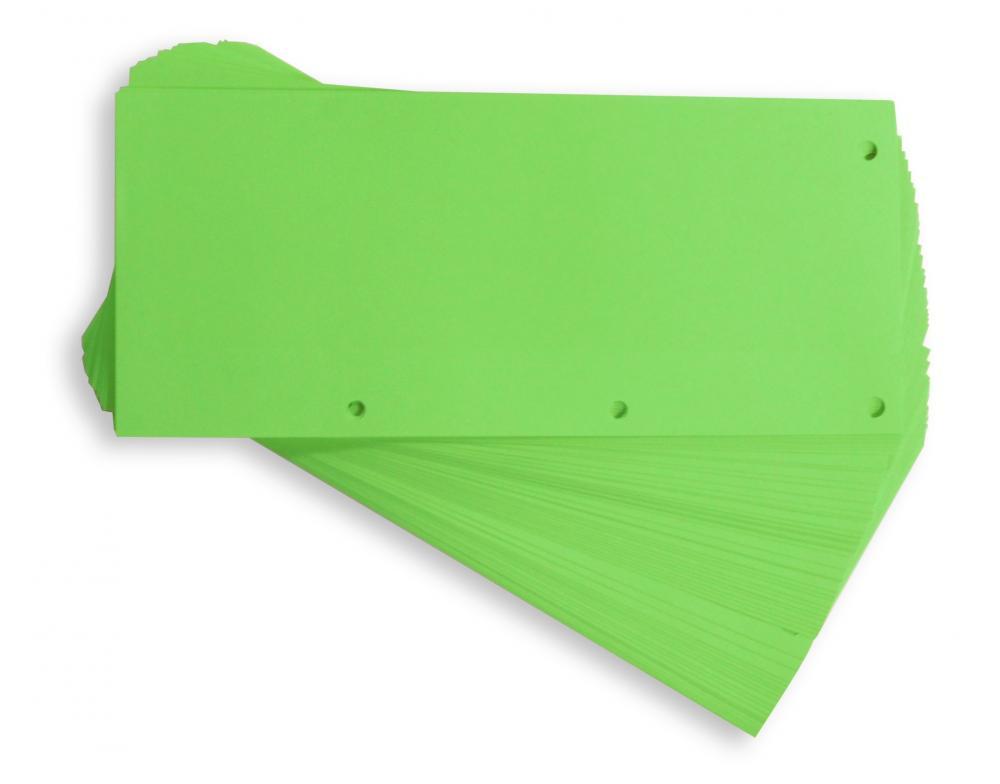 Separatoare Carton Pentru Biblioraft  190g/mp  105 X 240 Mm  60/set  Elba Duo - Verde